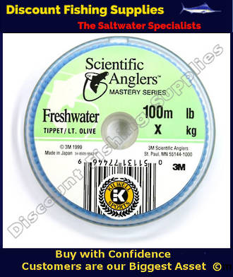 S.A. Mastery Tippet Olive 100m 5lb (4X)