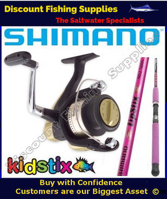 Shimano LipsStix / Hyperloop 4000 Kids Combo 5ft  WITH LINE