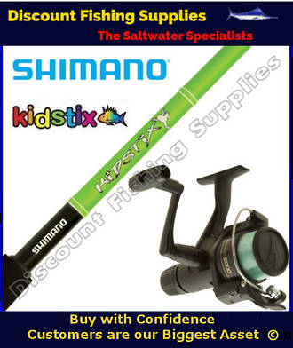 Shimano KidStix / IX2000 Kids Combo - Frog 6ft 2pc WITH LINE