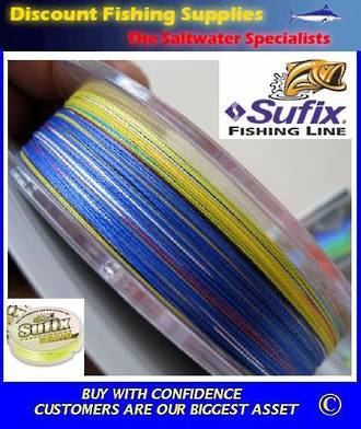 Sufix Performance Braid Multi Colour 80lb X 3200m - Bulk Spool