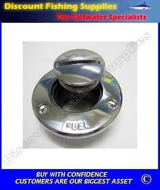 "Tenob Chrome Plated ""FUEL"" Filler"