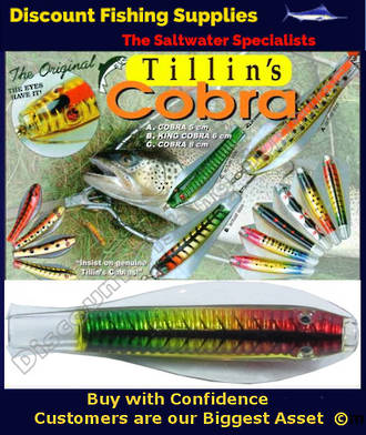 Tillins Cobra Wobbler Lure 19g 3inch Colour 63