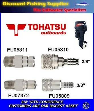 "Tohatsu 3/8"" Hose Connector, Tank End (FU05810)"
