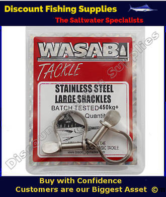 Wasabi S/S Shackles 450kg+ X 2