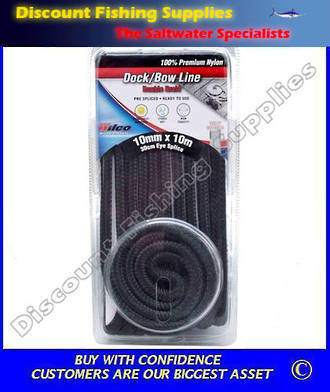 Wilco Dock / Bow Line - 10mm X 10m Black