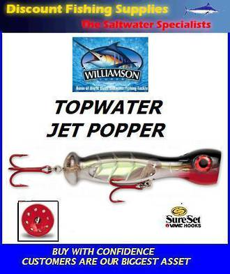 "Williamson Jet Popper - 7"" Natural Silver"