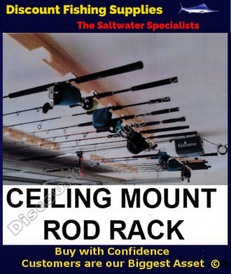 Wooden Rod Rack - Roof Mounted - For 8 Rods