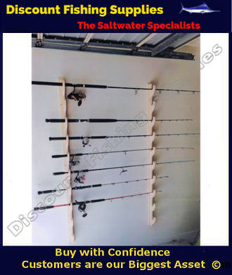 Wooden Rod Rack - Wall Mounted - For 6 Rods