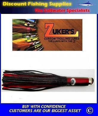 "Zuker 13"" - Vinyl Skirt Marlin Lure - ZM5 Red/Black"