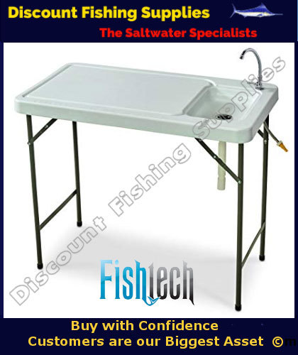 Fishtech Folding Fillet Camping Table With Fawcet