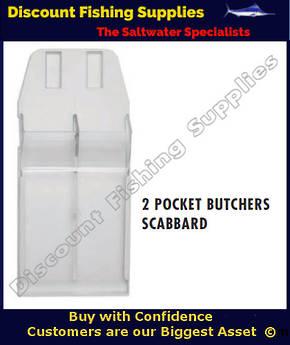 2 Pocket White Butchers Scabbard