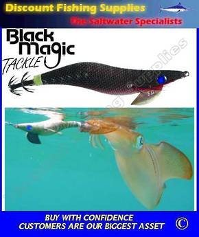 Black Magic Squid Jig - Black/Red 3.0gr