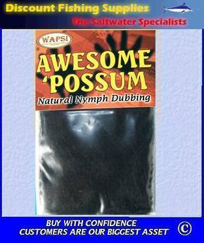 SLF Awesome Possum Dubbing - Black
