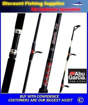 "Abu Garcia Muscle Tip Spin (or overhead) Rod 8-12kg 6'6"" 1Pc"