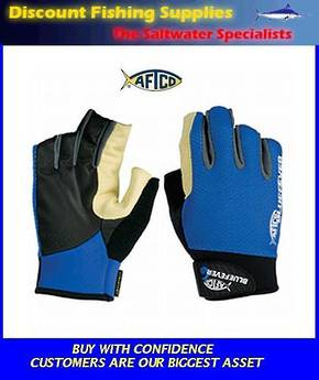 AFTCO Bluefever Short Pump LR Jigging Gloves Medium