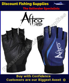 AFTCO Solmar UVS Short Finger Fishing Gloves