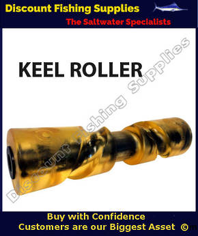 AM - Self Centering Keel Roller - Yellow - 290mm x 75mm
