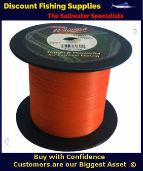 Berkley Whiplash Super Braid - 50lb X 2200yds BULK SPOOL Blaze Orange