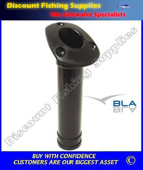 BLA Flush Mount Rod Holders - H.D. Plastic Black