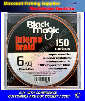 Black Magic Inferno Braid 6kg X 150m