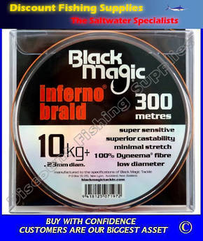 Black Magic Inferno Braid 10kg X 300m