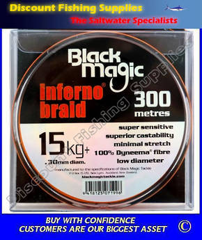 Black Magic Inferno Braid 15kg X 300m