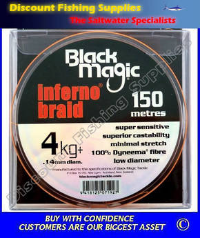 Black Magic Inferno Braid 4kg X 150m