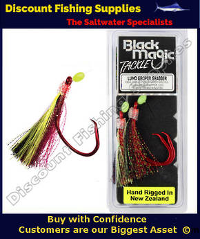 Black Magic Lumo Groper Grabber - RED