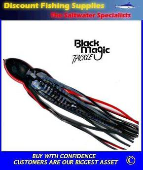 Black Magic Lure Skirt - Black/Holo 12.5""
