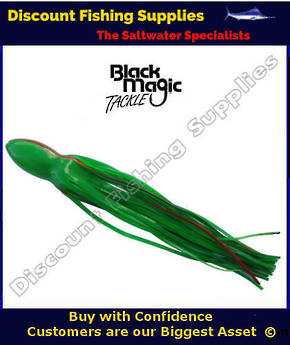 Black Magic Lure Skirt - Green With Red Stripe 14.5""