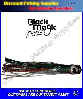 Black Magic Medium Devil Lure - Green Black Silver over Silver
