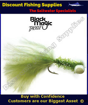 Black Magic Olive Booby Fly (Foam Eyes) #6