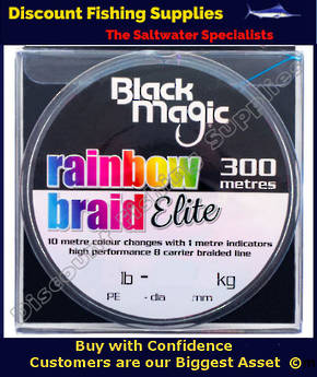 Black Magic RAINBOW BRAID ELITE 80LB X 300m
