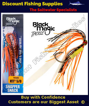 Black Magic Snapper Snack Flasher Rig Tiger 3/0