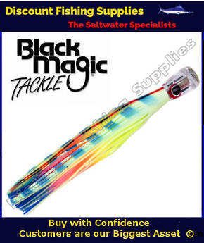 Black Magic SOFT PUSHER RANGE  - Marlin / Tuna Lure - Lumo Lollipop