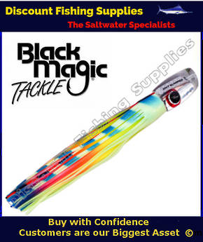 Black Magic SOFT SLAMMER RANGE  - Marlin / Tuna Lure - Lumo Lollipop