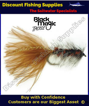 Black Magic Brown Woolly Bugger #4 Trout Fly
