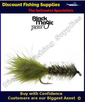 Black Magic Olive Woolly Bugger #4