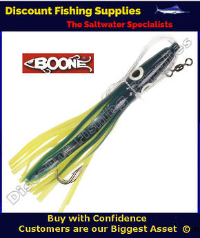 "Boone Tuna Eyes 6 1/2"" Rigged Lure - New Dolphin"
