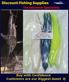Broadbill Bait Skirt Pack - Kilwell Pacific Lure Skirts X 5 - 12""