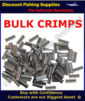 Crimps - BULK Mini Aluminium Single Sleeve 1.0mm X 1000 (7mm long) Oval