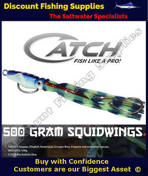 Catch 500gr Squidwings Deepdrop Jig - Lumo