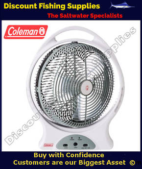 "Coleman Rechargeable 12"" Fan with LED Light"