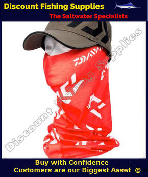 Face Shield - Daiwa Headsock Red