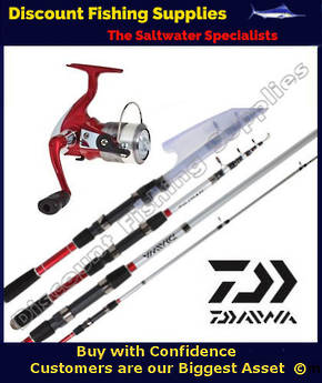 Daiwa SPITFIRE 2000 / SPITFIRE 18T TELESCOPIC COMBO with line