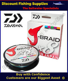Daiwa X8 J Braid 80lb X 300m - Multi-Colour