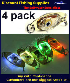 Deep Drop Underwater LED Fishing Light - 4 PACK