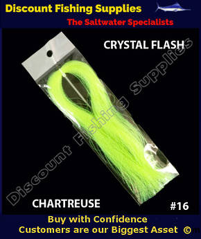 DFS Crystal Flasher Hair - Chartreuse