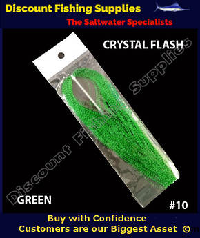 DFS Crystal Flasher Hair - Green
