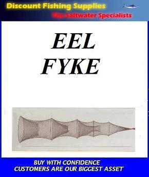 Eel Fyke Net - LGE - 2 Funnel with 10ft Wing